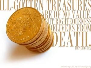 ill gotten treasures