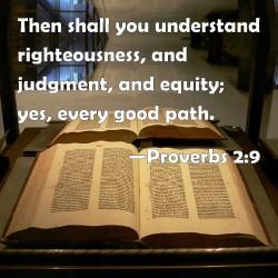 proverbs 2.9