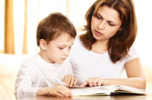 mother-teaching son