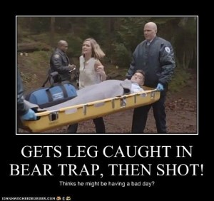 caught in bear trap