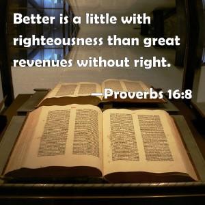 Poverbs 16.8