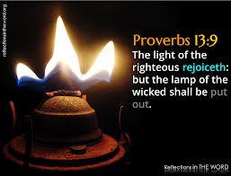 Proverbs 13.9