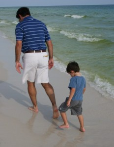 stepping in dad's footprints
