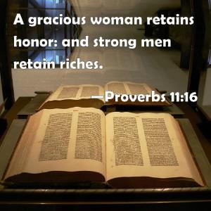 Proverbs 11.16