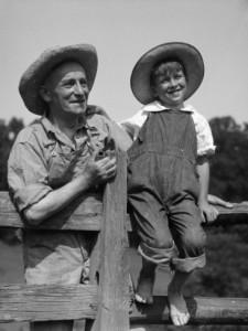 farmer in overalls