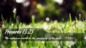 Proverbs 13.25