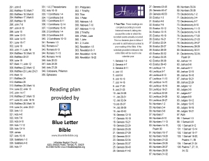 Chronological Bible Reading Plan